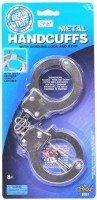 Imperial Die-Cast Metal Handcuffs Toy, Multi Color (color May Vary)