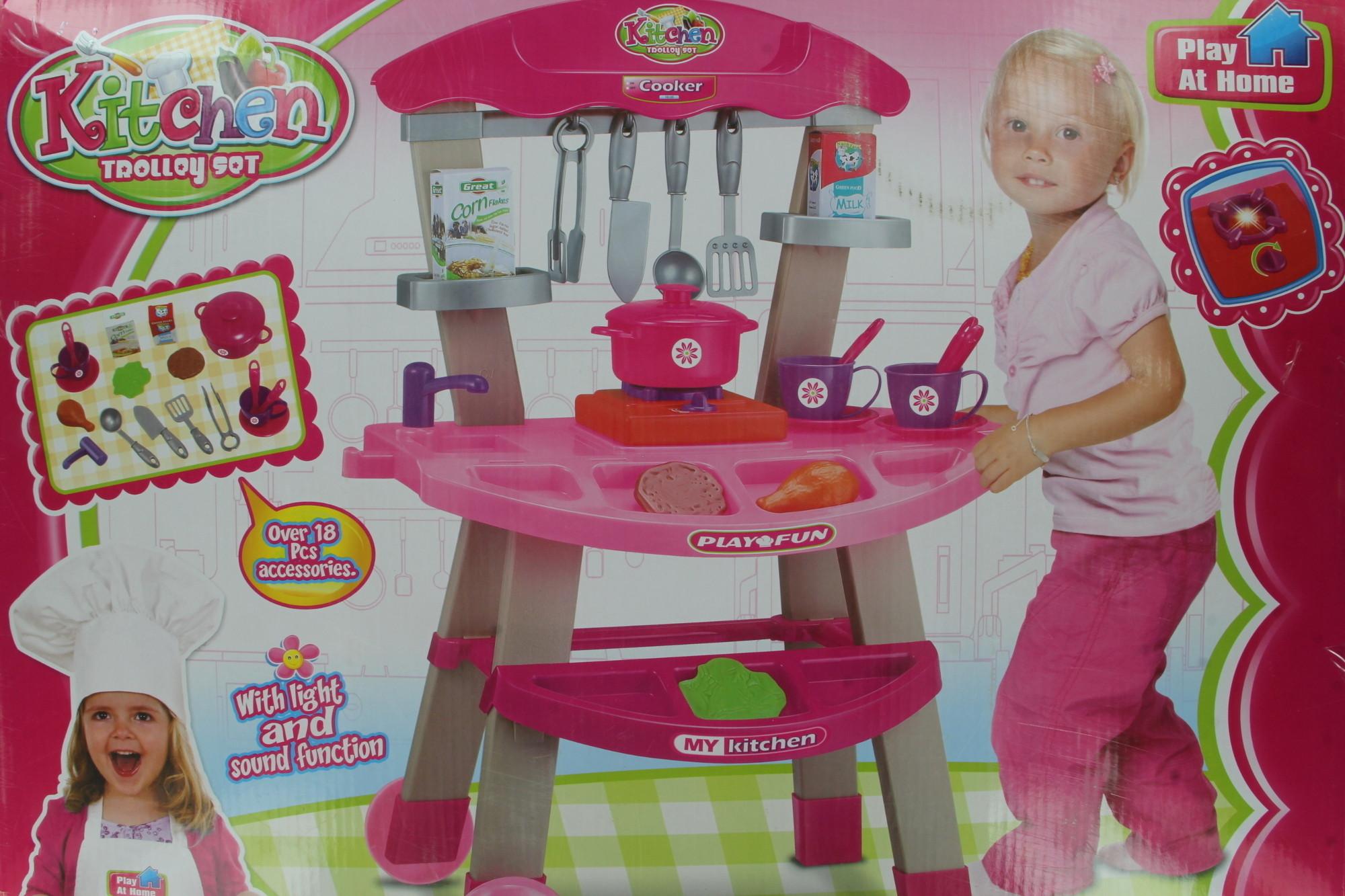 Hamleys kitchen trolley set kitchen trolley set shop for Kitchen set on flipkart