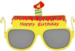 Funcart Role Play Toys Funcart Yellow Happy Birthday Glasses