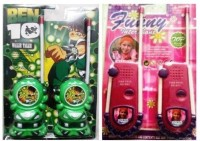 Shop & Shoppee Combo Of Ben 10 & Princess Walkie Talkie Set For Kids