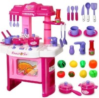 Khareedi Big Kitchen Cook Set Toy Kids Play (color May Vary)