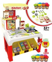 Toys Bhoomi Super Fun Kitchen Color Play Dough Set With Light & Music