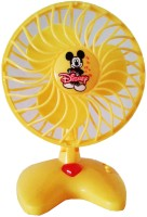 Vaibhav Disney Cute Mini Yellow Plastic Toy Fan For Kids - Battery Operated (color May Vary)