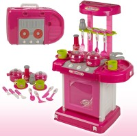 Shop & Shoppee Battery Operated Kitchen Super Set With Light And Sound + Carry Case - Pretend Play Toy For Kids
