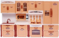Parteet Multicolour Modern Kitchen Play Set With Doll For Kids