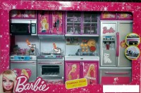 ToyTree Barbie 4 Set Beautiful Kitchen With Lights And Sound (color May Vary)