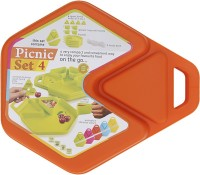 Tuelip All In One 12 Pcs Picnic Set-Orange (color May Vary)