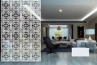 Planet Decor Plastic Decorative Screen Partition (Hanging, Finish Color - White) - RDPEFY86D8GZDBF5