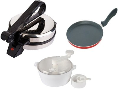 Black Cat Bc55 Dough Maker with Tawa with Roti and Khakra Maker