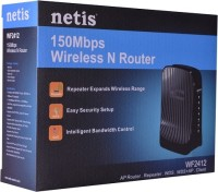 Netis WF2412 150Mbps Wireless N 4 Port Router With WPS Button And Multiple AP (Black)