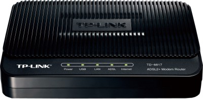 TP-LINK TD-8817 ADSL2 Ethernet/USB Wired with Modem Router (Black)