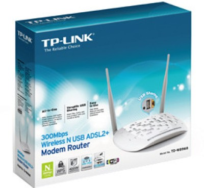 TP-LINK TD-W8968 300Mbps Wireless N USB ADSL2+ Modem Router