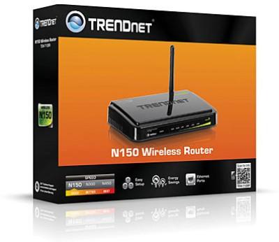 TRENDnet N150 Wireless Router (TEW-712BR) (Black)
