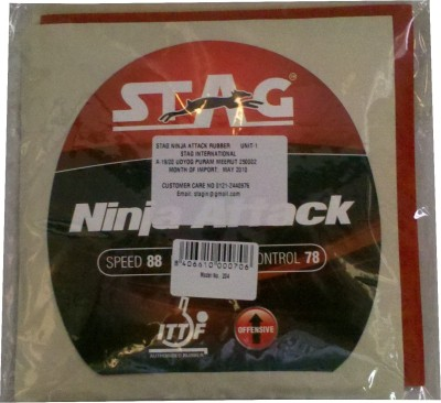 Stag Ninja Attack 2 mm Table Tennis Rubber Red