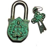Unravel India Shiva Brass Safety Lock - Black, Green-105