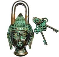 Unravel India Buddha Secret Brass Safety Lock - Black, Green-105