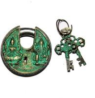 Unravel India Lakshmi Ganesha Brass Safety Lock - Black, Green-105