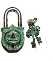 Unravel India Sun Brass Safety Lock - Black, Green-105