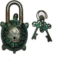 Unravel India Turtle Secret Brass Safety Lock - Black, Green-105