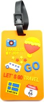 Daffodils LET'S GO Luggage Tag Orange
