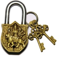 Unravel India Durga Brass Safety Lock - Gold-98
