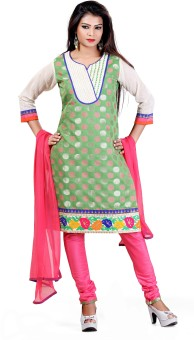 Payal Polka Print, Solid Churidar Suit