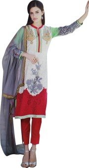Aamanee Embroidered, Printed Kurta & Churidar