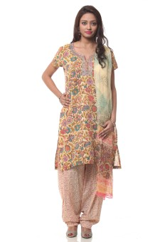 Lyla Floral Print Kurta With Salwaar Set