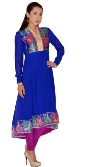 Magnetic Designs Solid, Printed Anarkali Suit