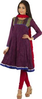 Rama Embroidered, Embellished Anarkali Suit