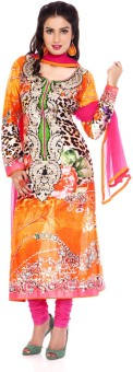Charming Floral Print Churidar Suit - SWDE6ZVGZHGQVHHJ