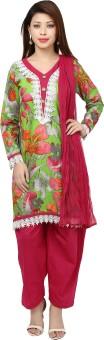 Isha Fashions Floral Print Kurta & Churidar