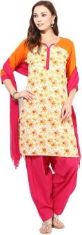 Jaipur Kurti Floral Print Salwar Kurta Duptta - SWDE8JJZZEKQZVC9