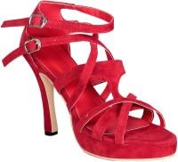 Soft & Sleek Criss Cross Red Heels