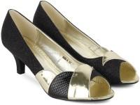 Tresmode Beipeep-1 Women Women Black, Gold Heels Black, Gold
