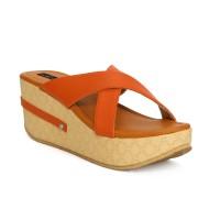 Funku Fashion Women Orange, Orange Wedges Orange, Orange