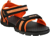 Sparx Men Black, Orange Sandals Black, Orange