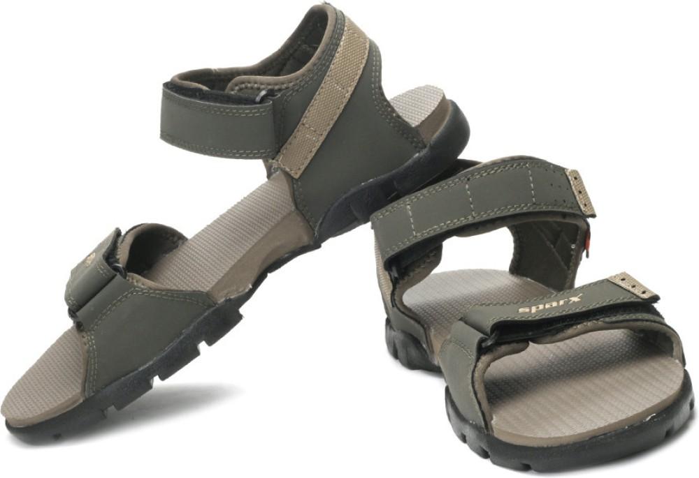 Sparx Men Green Beige Sandals Green Beige