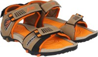Aero Men Black, Orange Sandals Black, Orange
