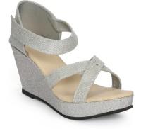 Fadrin Women Silver, Silver Heels Silver, Silver