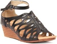 Lyc Black Wedges Sandals Wedges