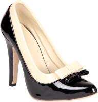 Soft & Sleek White & Black Bow Heels