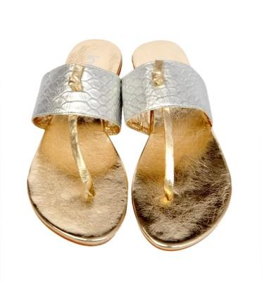 Inara Inara Leather Flats (Silver)