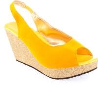 Kielz Ladies Women Yellow Wedges Yellow