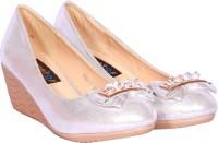 Sapatos Women Silver, Silver Wedges Silver, Silver