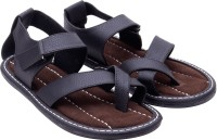 Ridhi Sidhi Black Leather Sandals