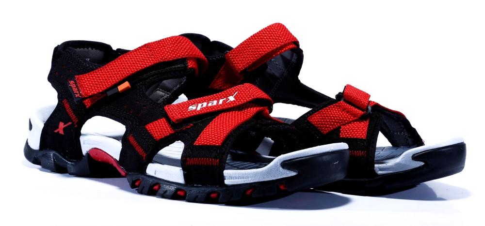Sparx Men Black Red Sandals Black Red