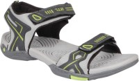 Hitcolus Grey & Green Floater Sandals