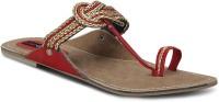 Get Glamr Red Slip On Women Flats