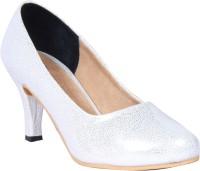 Funku Fashion Women Silver, Silver Heels Silver, Silver